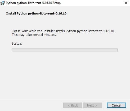 Install Python python-libtorrent