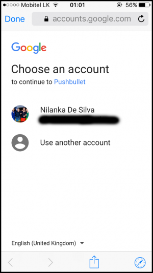 Pushbullet Account Mobile