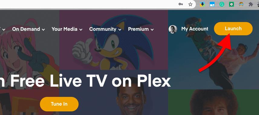 Launching Plex Media Server web app.