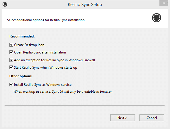 File syncing with Resilio Sync.