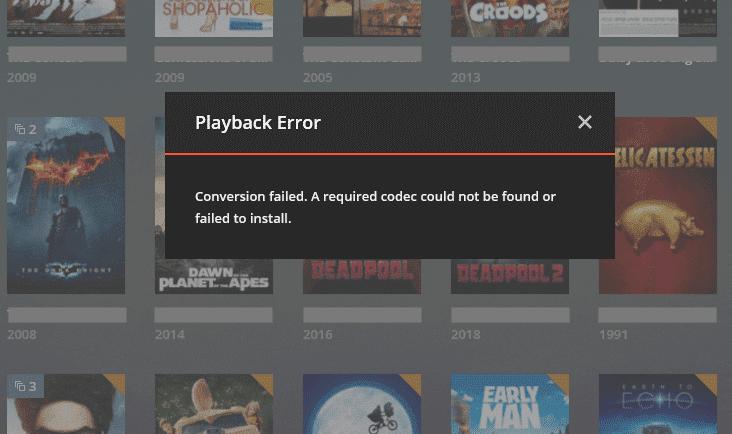 Troubleshooting Plex Media Server: Playback error.