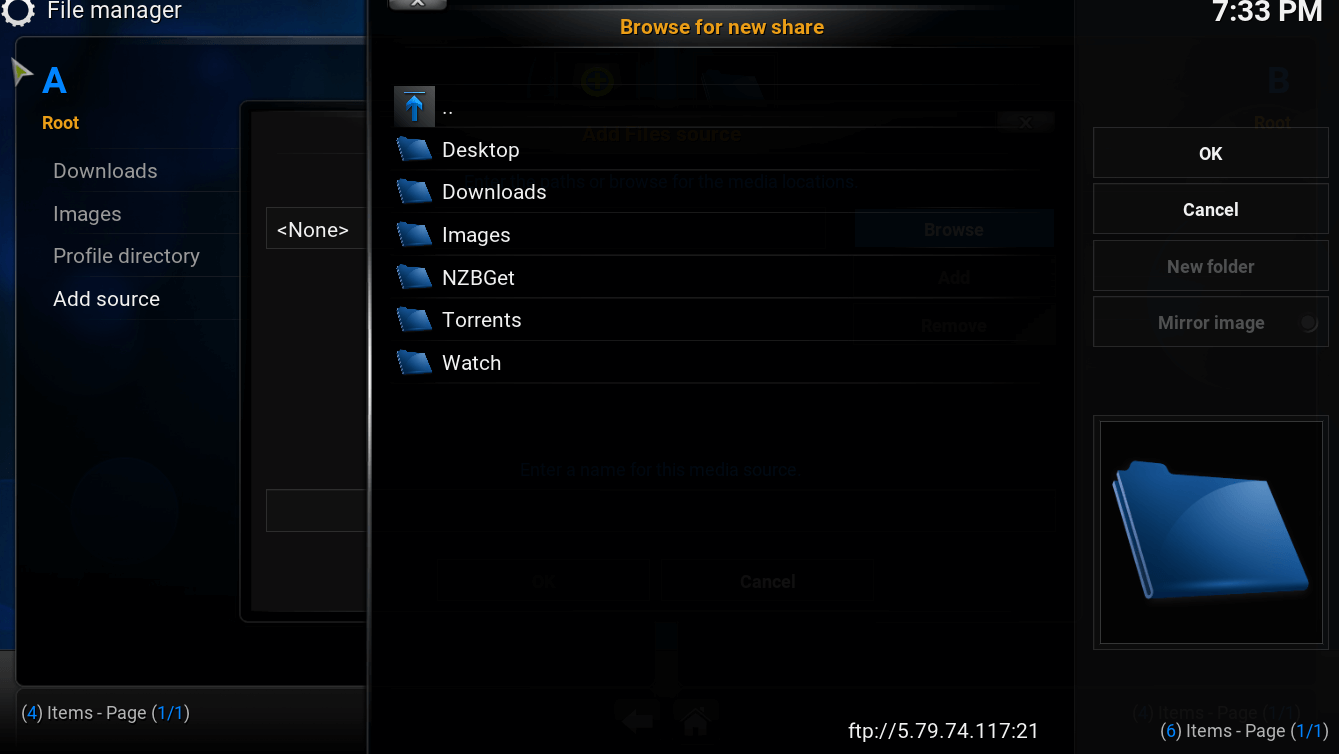 kodi-directories