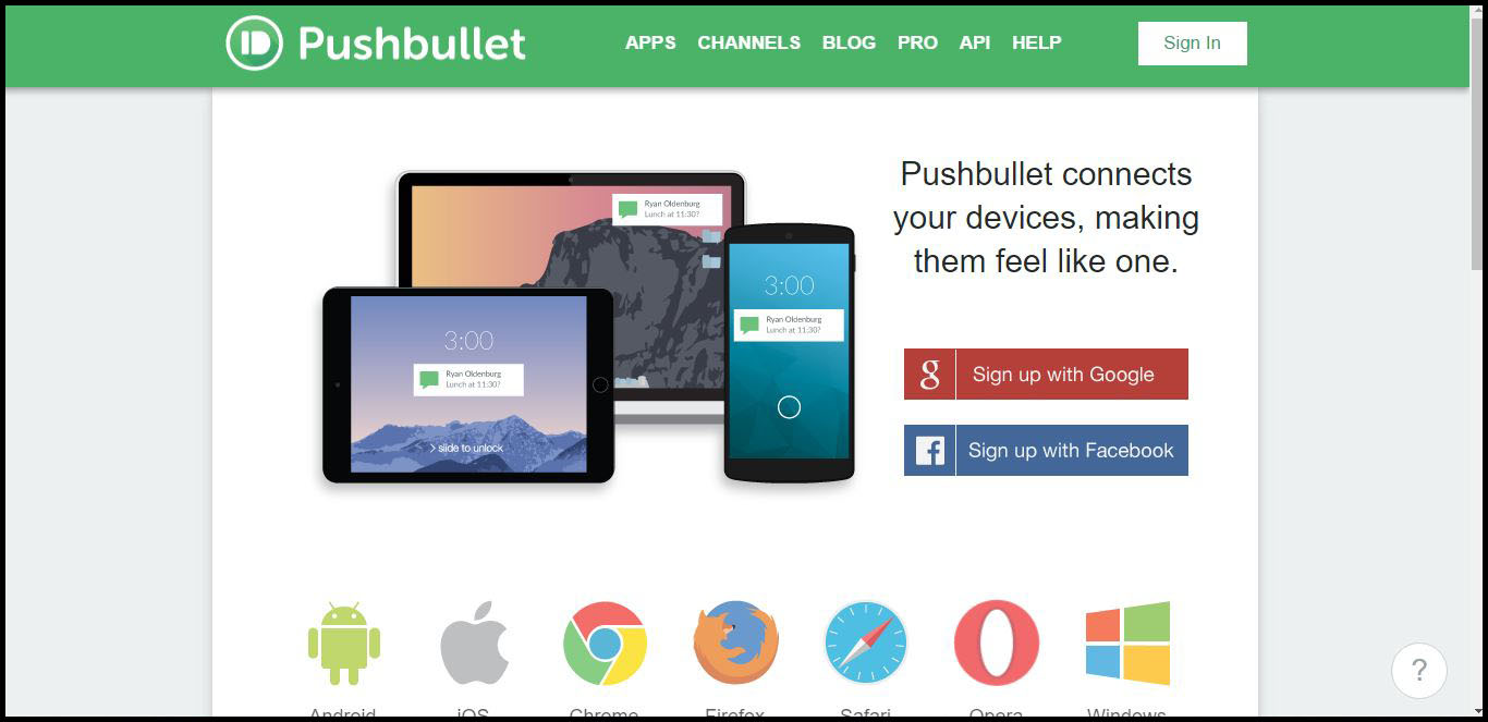Pushbullet Signup