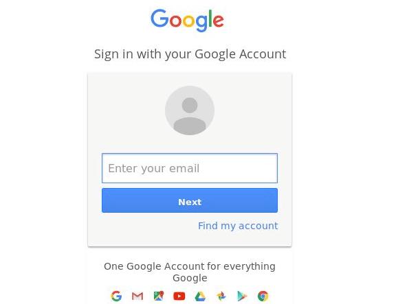 mount google drive - login to google