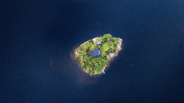 Secluded and off the grid island
